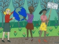 Gouache Portfolio - Ideal Girls Series. Ideal Girls Protect the Earth small